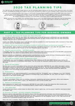 Australian Tax Tips - Page 1